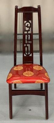 台中二手家具 大里宏品二手家具館 F112615*仿古實木餐椅* 二手各式桌椅 中古辦公家具買賣 會議桌椅 辦公桌椅