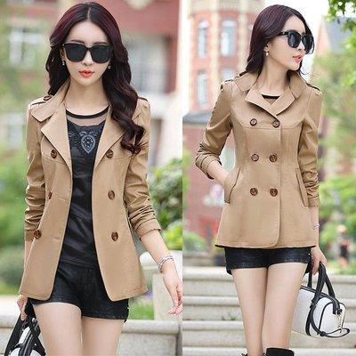 風衣女短款新款潮百搭收腰韓版夾克時尚春秋季上衣小個子外套