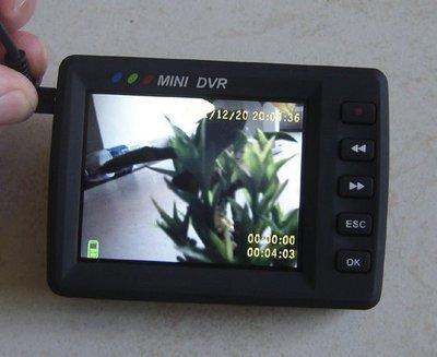搖控啟動 鈕扣針孔CCD鏡頭攝影機2.5吋DVR監視器行車紀錄器 新北市