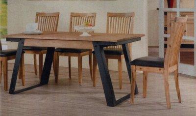 工業風餐桌椅組  餐桌1張+ 餐椅子4張 五件式工業風餐椅餐桌 實木鐵件餐桌椅組 個性風格獨具 全組特價28500-