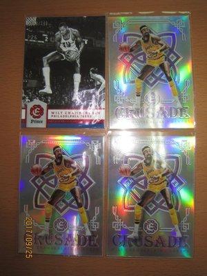 網拍讀賣~Wilt Chamberlain~傳奇球星~張大帥~限量卡/149~十字軍平行亮卡~普特卡~共4張~1500元