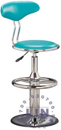 【品特優家具倉儲】A018-01吧台椅洽談椅萊爾富電鍍圓盤吧台椅