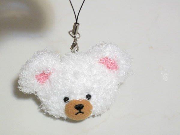 天使熊小鋪~日本帶回Sekiguchi白色上學熊手機吊飾 ~日本限定