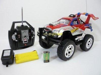 Mini酷啵玩具館~1:12 4WD四輪傳動~充電遙控大腳聲光越野車(紅)