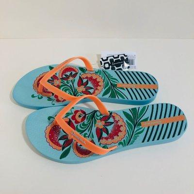 《現貨》Ipanema 女生夾腳拖鞋 巴西尺寸33/34,35,36,39/40(夏日花園 人字夾腳平底拖鞋-藍色)