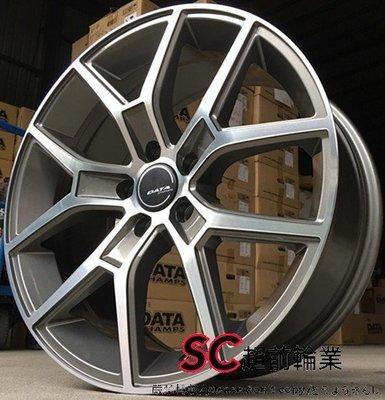【超前輪業】DATA VL-02 VL02 18吋鋁圈 5孔114 108 灰底車面 完工價 5000 V40 S60