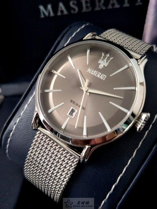 請支持正貨,瑪莎拉蒂手錶MASERATI手錶EPOCA款,編號:MA00088,銀灰色錶面銀色精鋼錶鍊錶帶款