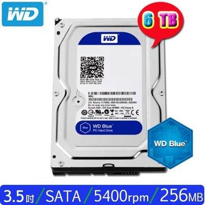 【MR3C】含稅 WD威騰 6T 6TB WD60EZAZ 藍標 桌上型硬碟 新款 256MB快取 三年保固