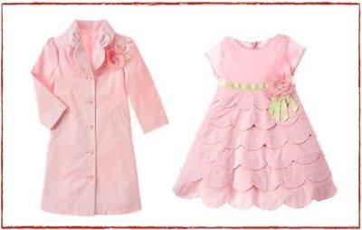 (((出清特價))) 美國 GYMBOREE 禮服系列 ~ 粉紅紗花蛋糕裙禮服+長版禮服外套 (8~9yrs)
