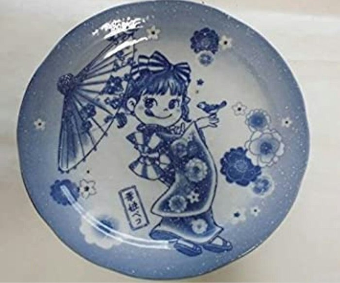 天使熊雜貨小舖~日本peko 美濃焼 華姫ペコと牡丹の大皿  日本製  全新現貨