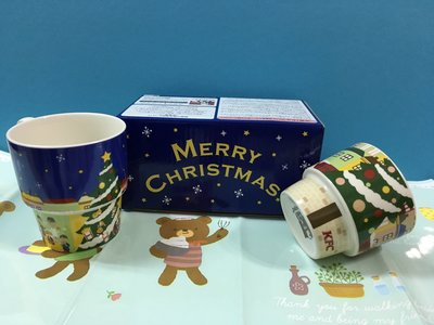 * QP小舖 * 日本肯德基《聖誕節》2入組馬克杯 陶瓷杯 茶杯