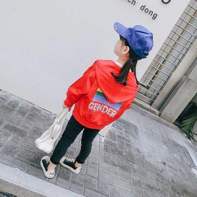 【VIAN】含運春裝2019新款女童洋氣外套個性連帽上衣兒童夾克春秋時髦潮衣