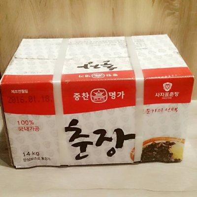 匯盈一館~韓式傳統炸醬14Kg韓國老牌醡醬14KG韓國炸醬14KG營業用~現貨