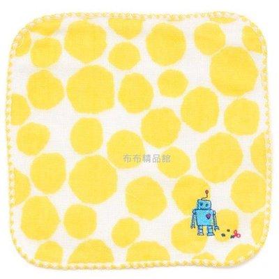 布布精品館,日本製  Kontex mama's select  毛巾布  紗布 吸水 快乾 手帕 方巾 機器人