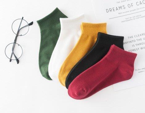 ~幸福家園~5雙一包160元~韓版可愛學生純色純棉女短襪~ 棉襪~襪子~女襪~學生襪