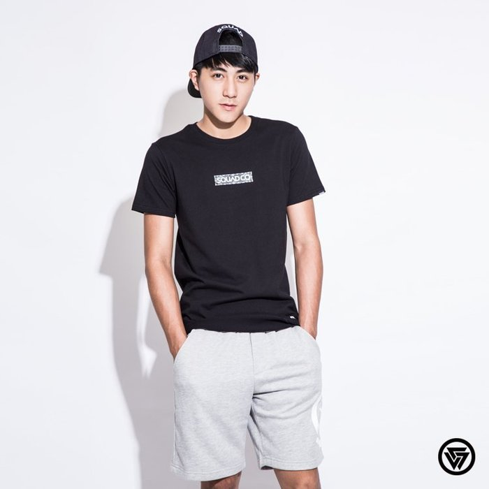 SQUAD 2016 S/S BOX LOGO 長版T-Shirt BOX LOGO T-Shirt 變型蟲 黑色