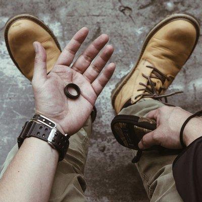 Dissolve戒指男女潮嘻哈個性單身ins簡約風復古單身戒項鏈兩用款單身戒指全有雜貨