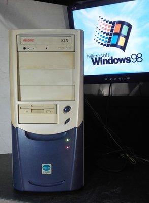 【窮人電腦】跑Win98系統!自組技嘉工業主機出售!雙北桃園可親送!外縣可寄送!