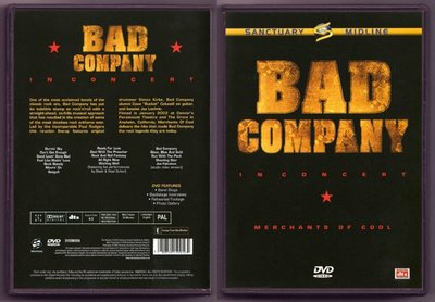 音樂居士#Bad Company In Concert Merchants of Cool (/dts) DVD
