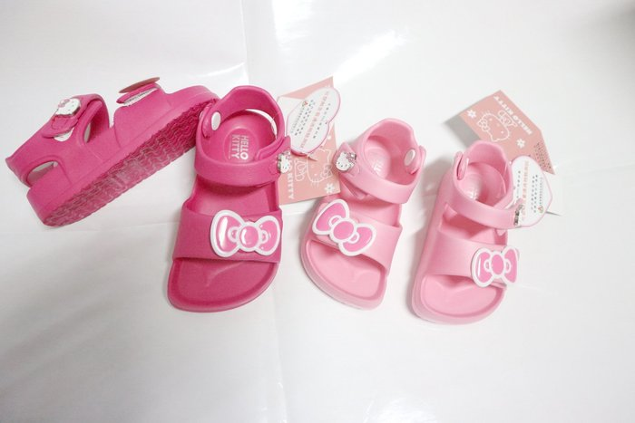 三麗鷗 Hello Kitty 819229 魔鬼氈 超輕量 防水涼鞋 桃 粉色13~18號