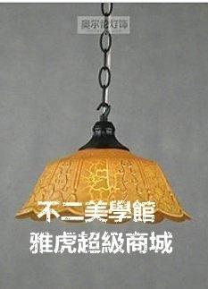 【格倫雅】^欧式吊灯单头简约餐厅吊灯吧台书房过道玄关灯铁艺玻璃灯具10202[g-l-y55