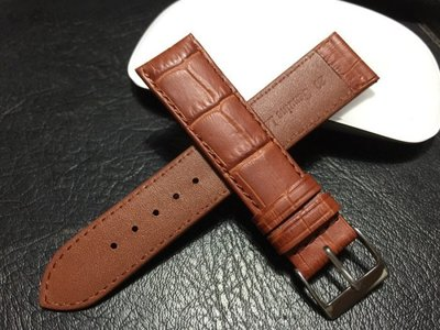 168錶帶配件 /棕色 防水 進口皮料啞光高質感20mm替代oris ck armani seiko原廠錶帶真皮製錶帶