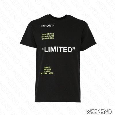 【WEEKEND】 TABOO Limited 文字 短袖 T恤 上衣 黑色 男女同款 19春夏