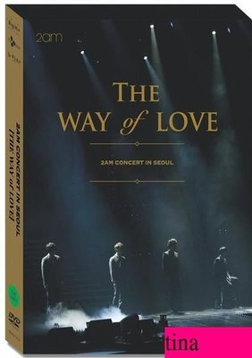 2AM - THE WAY of LOVE 2AM Concert in Seoul 韓國原版3DVD贈寫真集全新未拆