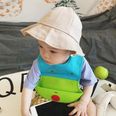 ins嬰幼兒童裝軟硅膠圍兜立體防水防漏輔食寶寶圍嘴喂飯兜口水巾