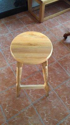 戀戀小木屋 原木色高腳椅 吧台椅   原木吧台椅 現酪中
