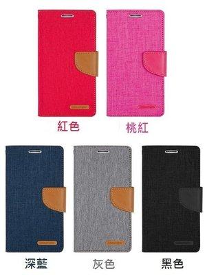 韓國Mercury iPhone Xs Max 牛仔布紋 韓式撞色皮套 手機套 可插卡 可站立