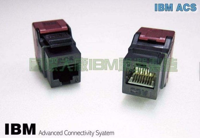 [瀚維 規格書] IBM CAT.6 180度 8P8C鍍金 Keystone 網路資訊座 24顆 售 壓接工具 網路線