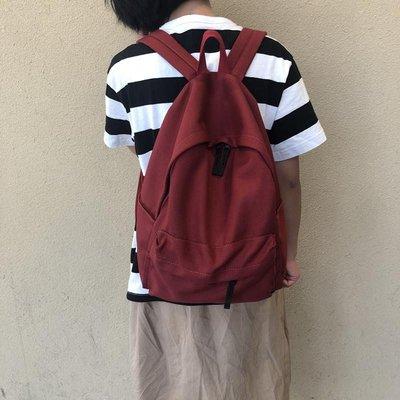 奇奇雙肩包女百搭日系簡約旅行背包2020無印帆布ins高中學生書包男潮