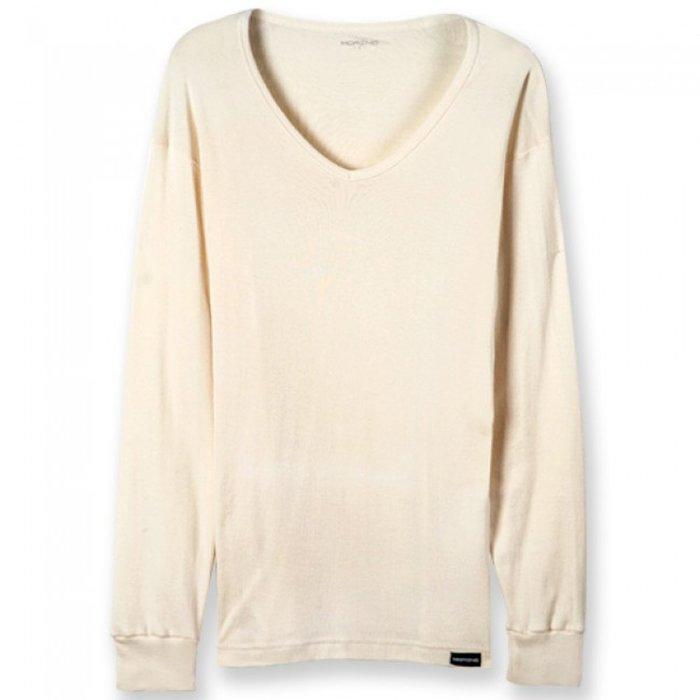【MORINO摩力諾】有機棉  長袖T恤  V領衫(超值2件組)免運