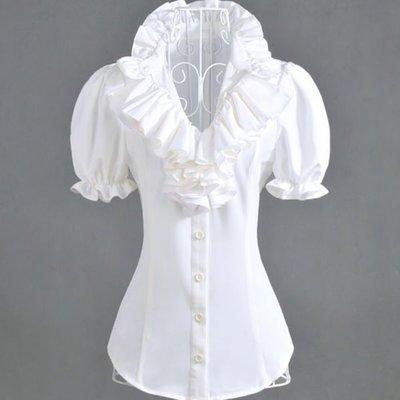 短袖襯衫 #I-049 立領襯衫 黑白兩款 修身顯瘦