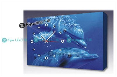 KIPO-藍色海洋  海豚  無框畫掛...