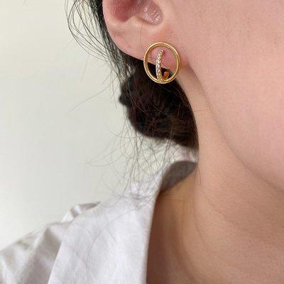 Encircle 立體環繞圈耳環  Simple Modern [正韓] 韓國連線 【NN291】