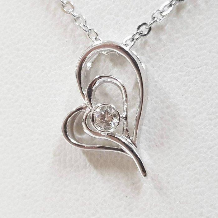 送禮禮物禮品 全新品天然鑽石造型項鍊 主石10分 585K金墜台 墜高1.72cm寬1.32cm 大眾當舖 編號5864
