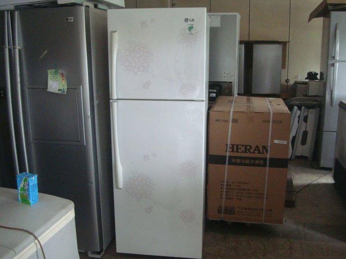 高雄屏東萬丹電器醫生中古二手 LG花之舞 雙門冰箱329公升自取價9500