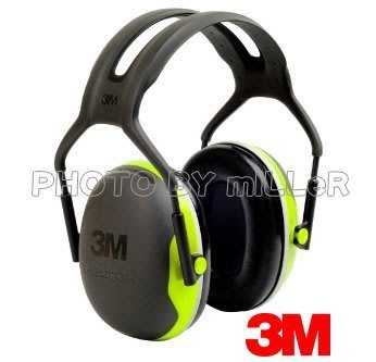【米勒線上購物】耳罩 3M PELTOR X4A 防音耳罩 送無線耳塞一付 NRR27【中度噪音環境用】