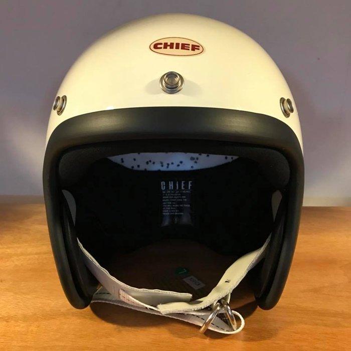 (I LOVE樂多) Chief Helmet TX500 3/4 小帽體安全帽 白色 喜愛BELL BUCO 可參考