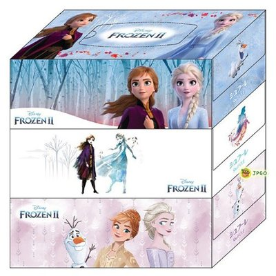 【JPGO】預購-日本製 CARTAS shuf.ole 迪士尼 冰雪奇緣2限定包裝 盒裝衛生紙 面紙 3盒入#432