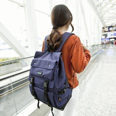 【優上精品】日韓雙肩包大容量旅行背包牛津紡電腦背包帆布書包(Z-P3101)