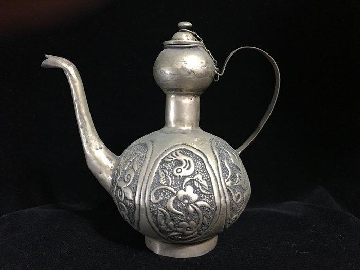 早期收藏-手工藏銀製品-擺件觀賞壺-天球