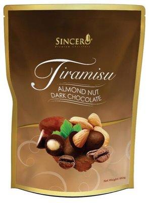 《好市多COSTCO 商品代購》Sincero 提拉米蘇杏仁黑巧克力 660公克/包