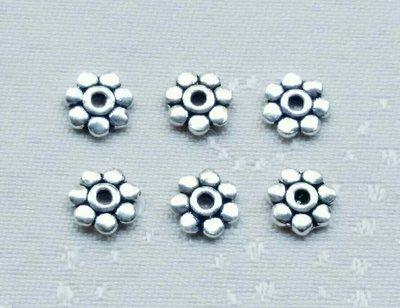 嗨,寶貝銀飾珠寶* 925純銀飾 DIY串珠配件☆4.3mm~4.5mm花瓣形 扁隔片隔珠 串珠配件4