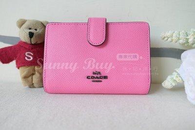 【Sunny Buy精品館】◎現貨◎Coach 11484 螢光粉色基本款 防刮皮革 中夾 信用卡夾 零錢包