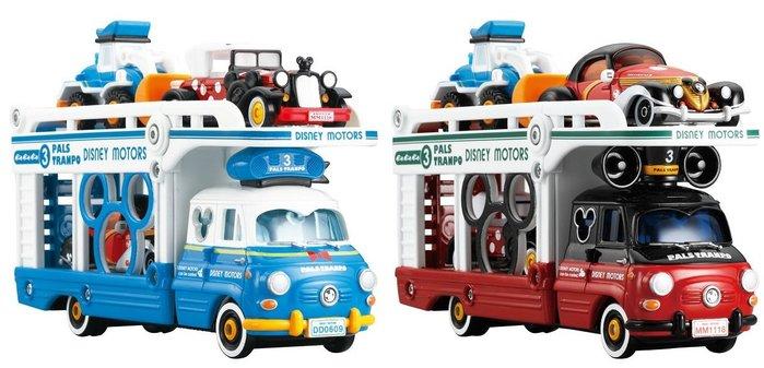 【HAHA小站】麗嬰 日本 多美 Disney 迪士尼 小汽車運輸車 唐老鴨 DS11572 米奇 DS11653
