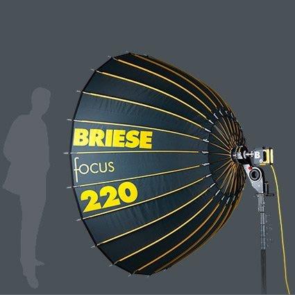 【凱西影視器材】Briese light Focus.2 220cm+燈頭套組/頂級德國閃燈系統