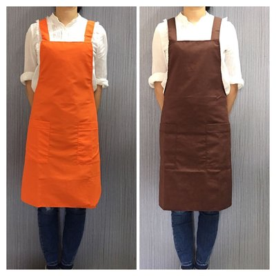 巨星專業圍裙 日式H型工作服 兩個口袋  單層圍裙 棉質款